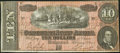 Confederate Notes:1864 Issues, J. H. Childrey Ad Note T68 $10 1864 Fine-Very Fine.. ...