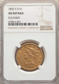 1855-S $10 NGC Details(PCGS# 8618)