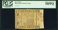 Rhode Island May 1786 £3 PCGS Choice About New 58PPQ