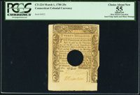 John Chester Signed Connecticut March 1, 1780 20s PCGS Apparent Choice About New 55