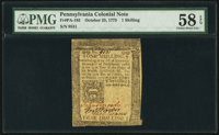 Pennsylvania October 25, 1775 1s PMG Choice About Unc 58 EPQ