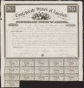 Confederate Notes:Group Lots, Ball 1 Cr. 5A $50 1861 Bond Very Fine.. ...