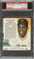 Baseball Cards:Singles (1950-1959), 1955 Red Man Willie Mays #7 PSA NM-MT 8. ...