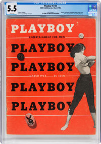 Playboy #4 (HMH Publishing, 1954) CGC FN- 5.5 White pages