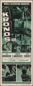 """Movie Posters:Science Fiction, Kronos (20th Century Fox, 1957). Rolled, Very Fine-. Insert (14"""" X 36""""). Science Fiction.. ..."""