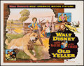 Movie Posters:Drama, Old Yeller (Buena Vista, 1957). Rolled, Very Fine-.