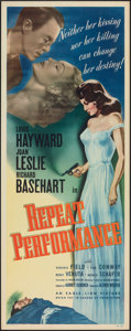"""Movie Posters:Mystery, Repeat Performance (Eagle Lion, 1947). Folded, Very Fine-. Insert (14"""" X 36""""). Mystery.. ..."""