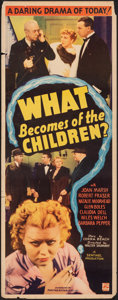 "Movie Posters:Exploitation, What Becomes of the Children? (Puritan, 1936). Rolled, Fine+. Insert (14"" X 36""). Exploitation.. ..."