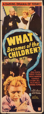 """What Becomes of the Children? (Puritan, 1936). Rolled, Fine+. Insert (14"""" X 36""""). Exploitation"""
