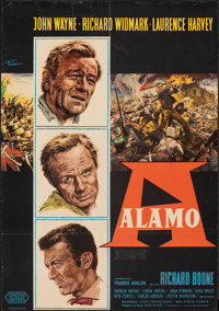 "The Alamo (United Artists, 1961). Folded, Fine. German A1 (23"" X 33""). Rolf Goetze Artwork. Western"