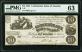 Confederate Notes:1861 Issues, T28 $10 1861 PF-10 Cr. 236B PMG Choice Uncirculated 63.. ...