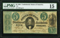 T33 $5 1861 PF-1 Cr. 250Ba PMG Choice Fine 15