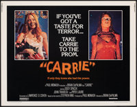 """Carrie (United Artists, 1976). Rolled, Very Fine+. Half Sheet (22"""" X 28""""). Horror"""