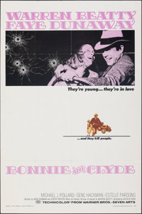 """Bonnie and Clyde (Warner Bros-Seven Arts, 1967). Folded, Very Fine. One Sheet (27"""" X 41""""). Crime"""