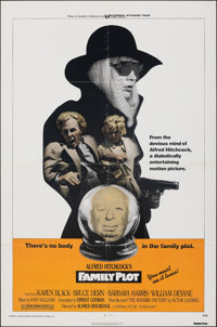 """Family Plot & Other Lot (Universal, 1976). Folded, Fine/Very Fine. One Sheets (2) (27"""" X 41""""). Hitchcock..."""