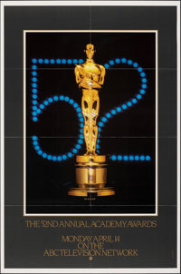 """52nd Annual Academy Awards Posters & Other Lot (AMPAS, 1980/1981). Folded, Very Fine. One Sheets (2) (27"""" X 41&..."""