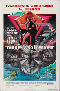 """The Spy Who Loved Me & Other Lot (United Artists, 1977). Folded, Fine. One Sheets (37) (27"""" X 41""""). Bob Pe..."""