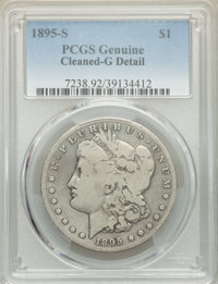 1895-S $1 -- Cleaning -- PCGS Genuine. Good Details. Mintage 400,000. ...(PCGS# 7238)