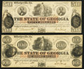 Milledgeville, GA- State of Georgia $50; $100 Jan. 15, 1862 Cr. 2; Cr. 1 Crisp Uncirculated. ... (Total: 2 notes)