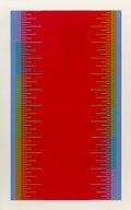 Prints & Multiples, Richard Joseph Anuszkiewicz (1930-2020). Olympics 1976, 1974. Screenprint in colors on wove paper. 39-3/4 x 25 inches (1...