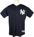 Baseball Collectibles:Uniforms, 2004 Tom Gordon Game Worn New York Yankees Batting Practice Jersey From Japanese Exhibition. At the onset of the 2004 Major...
