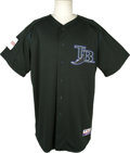 Baseball Collectibles:Uniforms, 2004 Don Zimmer Batting Practice Worn Jersey from JapaneseExhibition. A half century after beginning his baseball career a...