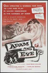 "Adam and Eve (William A. Horne, 1958). One Sheet (27"" X 41""). Drama"