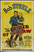 """Movie Posters:Western, The Rider of the Law (William Steiner, 1935). One Sheet (27"""" X 41""""). Western...."""