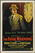 """Movie Posters:Serial, The Fatal Warning (Mascot, 1929). One Sheet (27"""" X 41"""") Episode No. 8 --""""The Fatal Fumes."""" Serial...."""