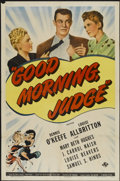 "Movie Posters:Comedy, Good Morning Judge (Universal, 1943). One Sheet (27"" X 41""). Comedy...."
