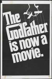 "The Godfather (Paramount, 1972). One Sheet (27"" X 41"") Advance Teaser. Crime"