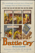 """Movie Posters:War, Battle Cry (Warner Brothers, 1955). One Sheet (27"""" X 41""""). War...."""