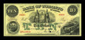 Canadian Currency: , Toronto, ON- Bank of Toronto $10 June 1, 1892 Ch. 715-22-26SSpecimen. ...
