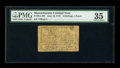 Colonial Notes:Massachusetts, Massachusetts June 18, 1776 4s/4d PMG Choice Very Fine 35....