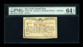 Colonial Notes:New York, New York January 6, 1776 (Water Works) 4s PMG Choice Uncirculated64 EPQ....