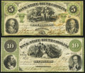 Charleston, SC- Bank of the State of South Carolina $5; $10 Oct. 1, 1861 Fine or Better. ... (Total: 2 notes)