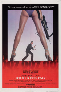 """For Your Eyes Only (United Artists, 1981). Folded, Fine/Very Fine. One Sheet (27"""" X 41"""") Advance. James Bond..."""