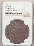 1799 $1 7x6 Stars, B-6, BB-162, R.4, -- Artificially Toned -- NGC Details. AU. ...(PCGS# 40053)