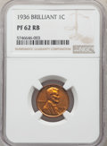 Proof Lincoln Cents, 1936 1C Type Two--Brilliant Finish PR62 Red and Brown NGC. NGC Census: (20/124). PCGS Population: (24/235). CDN: $225 Whsle...
