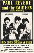 Music Memorabilia:Posters, Paul Revere & the Raiders 1968 Charleston, WV Dick Clark Concert Poster....
