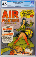 Golden Age (1938-1955):War, Air Fighters Comics V2#2 (Hillman Fall, 1943) CGC VG+ 4.5 Off-white pages....