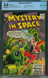 Mystery in Space #53 - CBCS CERTIFIED (DC, 1959) CGC VG- 3.5 Off-white to white pages