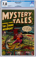 Golden Age (1938-1955):Horror, Mystery Tales #1 (Atlas, 1952) CGC FN/VF 7.0 Off-white pages....