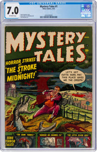 Mystery Tales #1 (Atlas, 1952) CGC FN/VF 7.0 Off-white pages