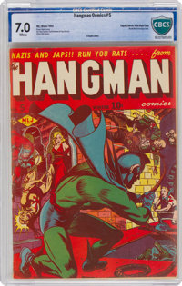 Hangman Comics #5 Mile High Pedigree (MLJ, 1942) CBCS FN/VF 7.0 White pages