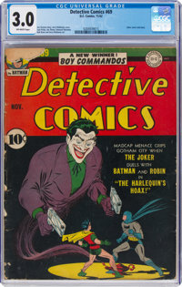 Detective Comics #69 (DC, 1942) CGC GD/VG 3.0 Off-white pages