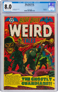 Blue Bolt #116 (Star Publications, 1952) CGC VF 8.0 Off-white to white pages