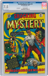 Shocking Mystery Cases #51 (Star Publications, 1952) CGC VF- 7.5 Off-white pages