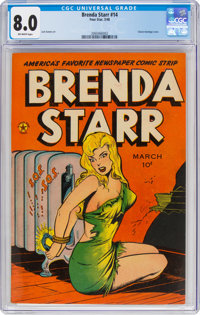 Brenda Starr #14 (#2) (Four Star, 1948) CGC VF 8.0 Off-white pages