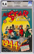 Golden Age (1938-1955):Superhero, All Star Comics #21 Mile High Pedigree (DC, 1944) CGC NM 9.4 White pages....
